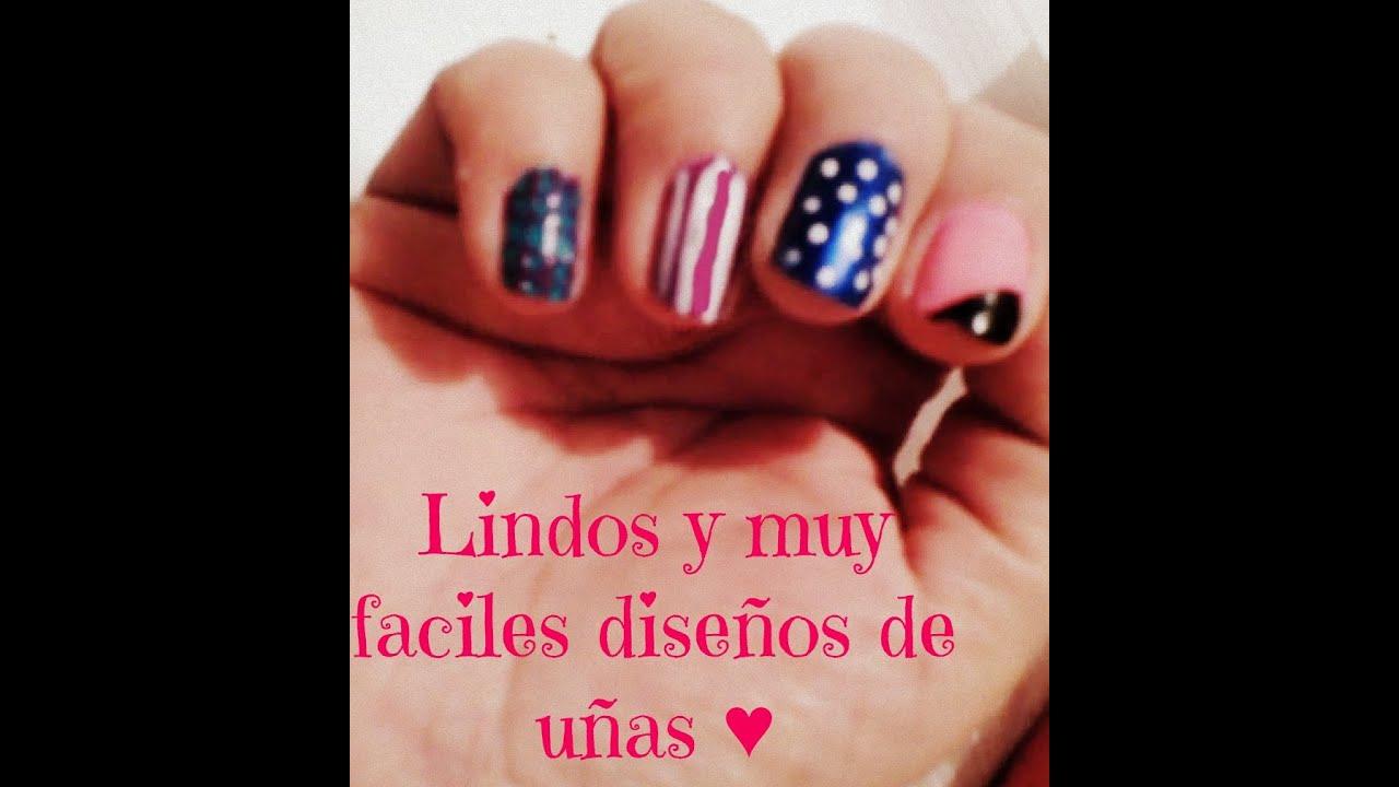 DIY, Fáciles y lindos diseños de uñas♥