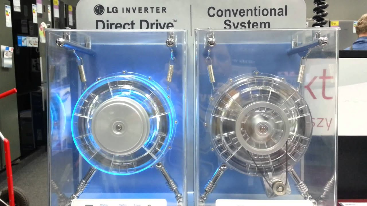Lg direct drive vs lg conventional system youtube for Direct drive motor washing machine