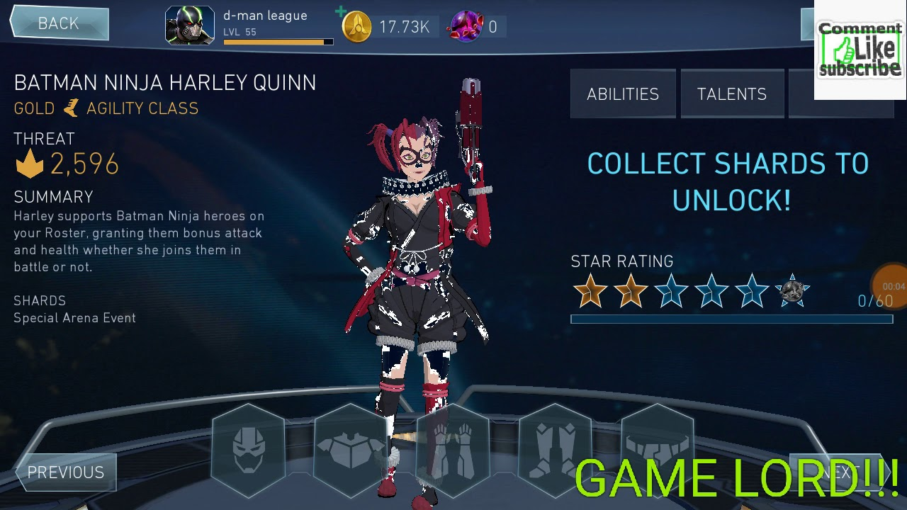 Injustice 2 Mobile Batman Ninja Harley Quinn New Update By Game Lord Youtube
