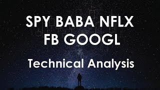 SPY BABA NFLX FB GOOGL Technical Analysis Chart 1/2/2018 by ChartGuys.com