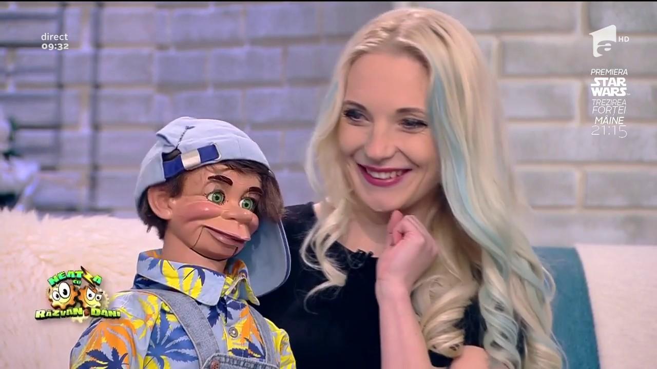 Spectacol de ventrilocie! Răzvan Simion, interviu cu Crina Zvobodă și păpușa Romeo Alună