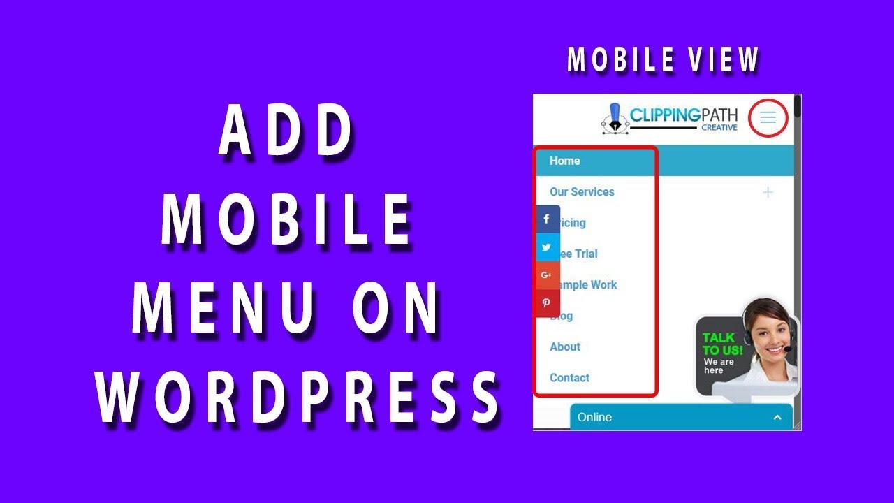 how to put menu in wordpress