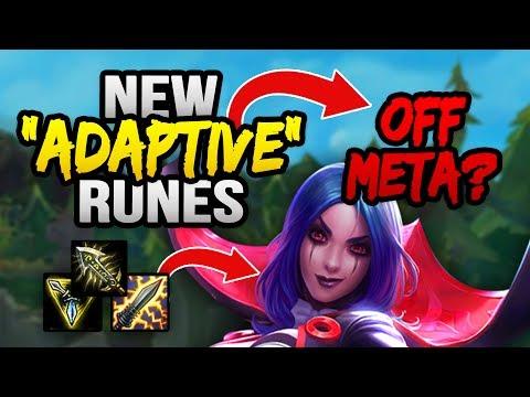 "NEW ""ADAPTIVE"" RUNES = OFF-META IS BETTER? (League of Legends)"