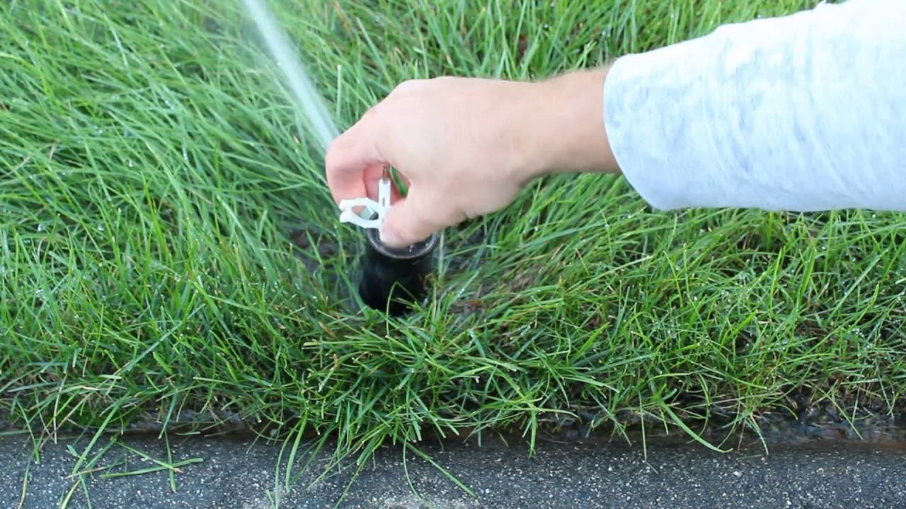 How To Adjust A Hunter Rotary Style Sprinkler Head Youtube Installation Manual Diy Howto
