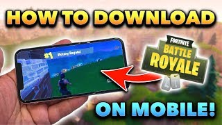How to Get Fortnite Mobile EARLY on Your iOS Device! (Sign Up Tutorial)