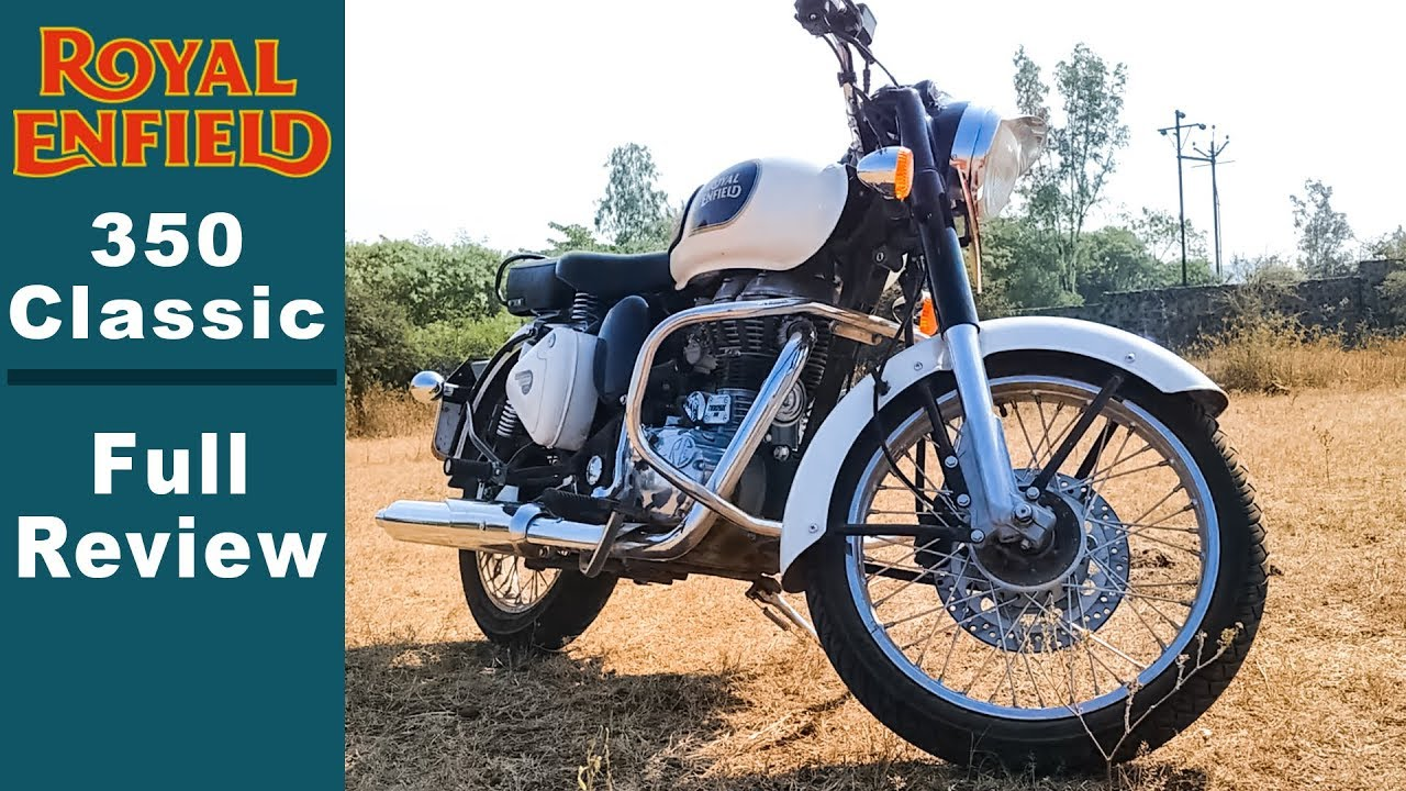 royal enfield classic 350 in india white full review 2018 walk