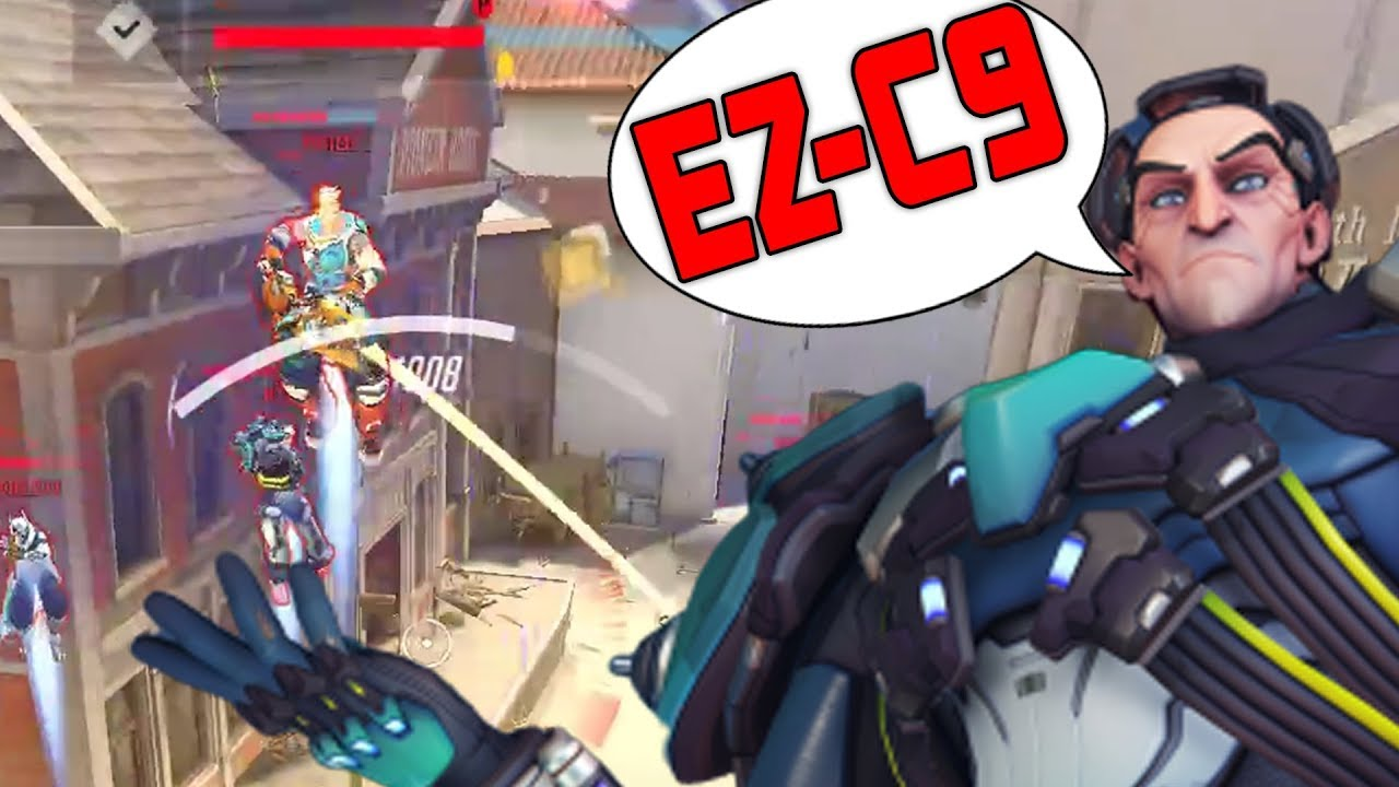 900 IQ ABUSE – SIGMA EMONGG! EZ C9?! 43 ELIMS! [ OVERWATCH SEASON 17 TOP 500 ] thumbnail
