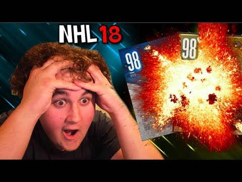 TWO 98 OVERALL PLAYERS IN 3 PACKS!!!! NHL 18 HUT CHAMPIONS REWARD PACKS
