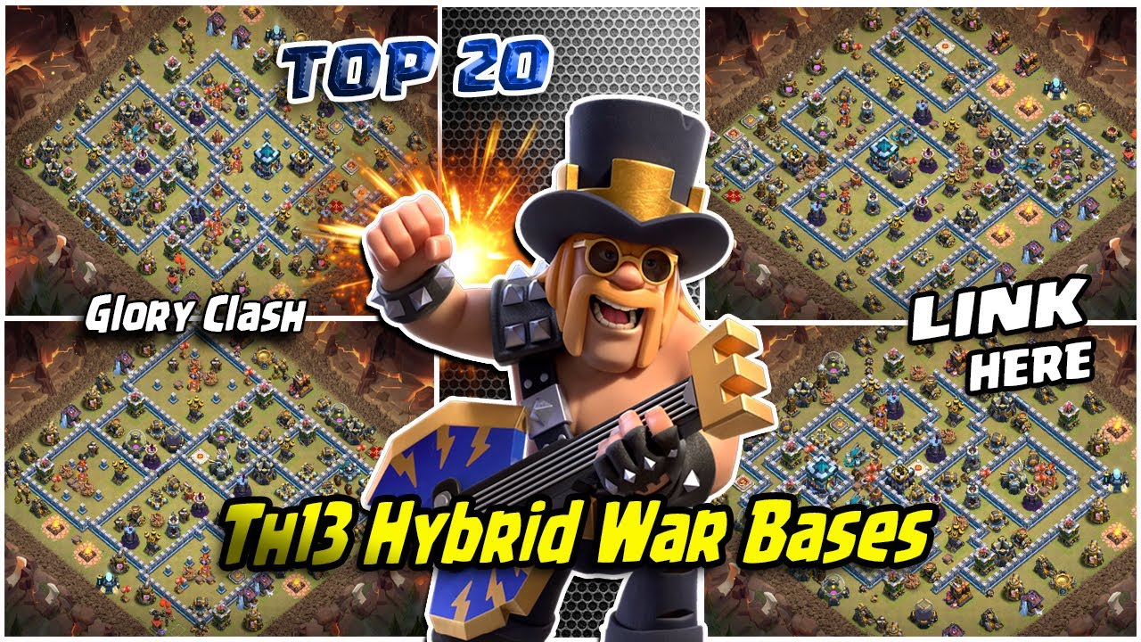 *GREAT* TOP 20 Th13 Hybrid War Bases 2020/Trophy & CWL War Base/Anti 2-3 Star/Clash of clans #556