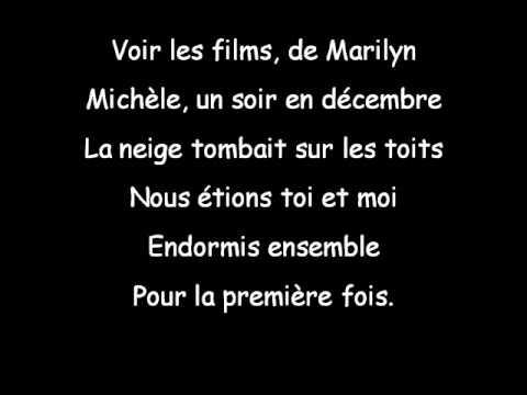 Paroles Gerard Lenorman Michèle Youtube