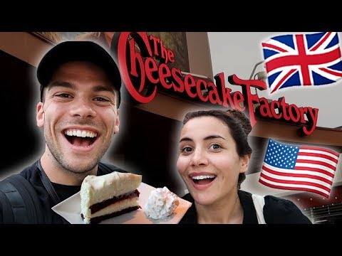 BRITISH Try CHEESECAKE FACTORY For The FIRST TIME!