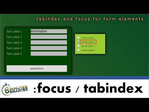 Improve Webform Usability With :focus And Tabindex