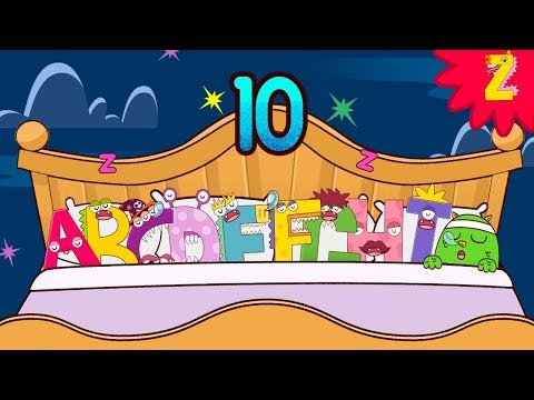 10 in the bed Roll over song with ABC Monster l Nursery rhymes for kids l Halloween l ZooZooSong