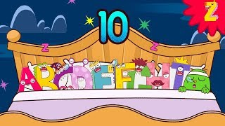 10 in the bed! Roll over song with ABC Monster l Nursery rhymes for kids l Halloween l ZooZooSong