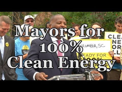 Mayors for 100% Clean Energy Press Conference