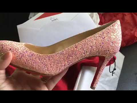 buy online 77b21 66a2f Christian Louboutin Fifille in Pompadour Glitter