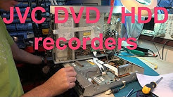 JVC DVD/HDD recorders. Unbox the large Skantic video recorder.