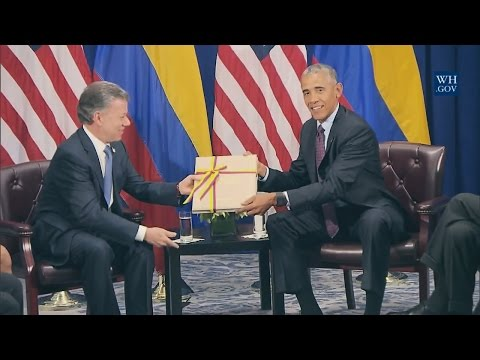 President Obama and President Juan Manuel Santos