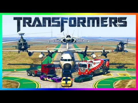 GTA ONLINE TRANSFORMERS CYBER MONDAY 2016 FREEMODE SPECIAL - OPTIMUS PRIME, BUMBLEBEE & MORE CARS!