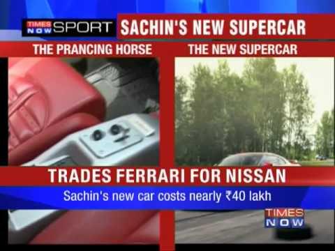Sachin trades his Ferrari for a Nissan