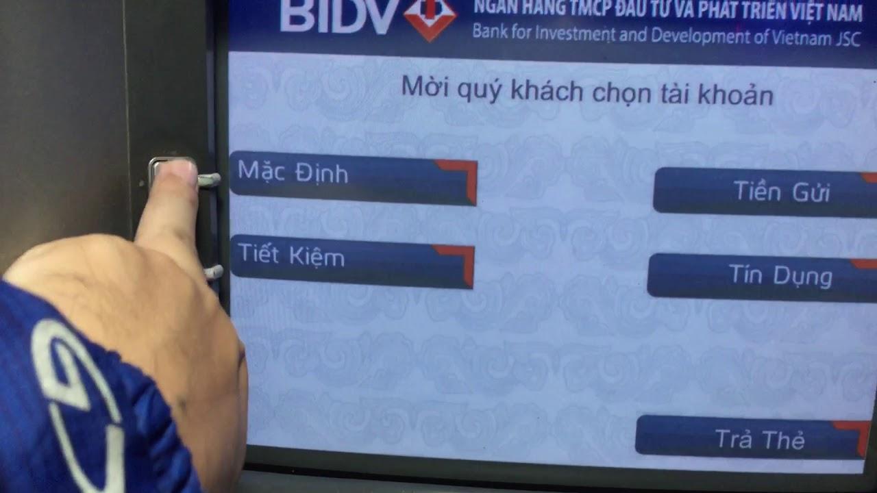 Thẻ ATM agribank rút tiền | chuyển khoản | xem số dư tại atm bidv được không ?