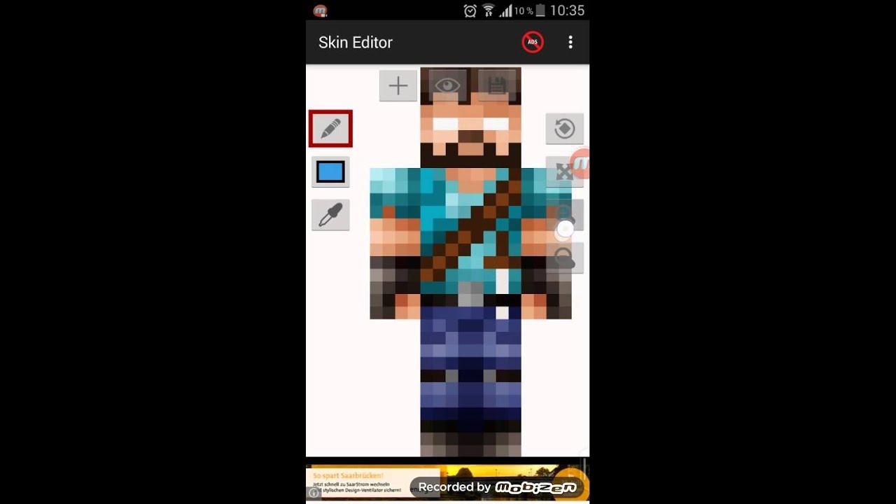 MINECRAFT Pe Skin Erstellen YouTube - Skins erstellen minecraft pe