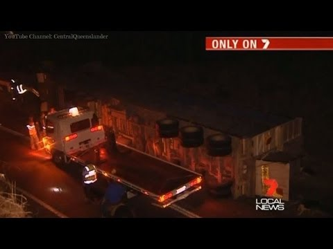 Truck Accident On Capricorn Highway - Seven Local News Rockhampton (2013)