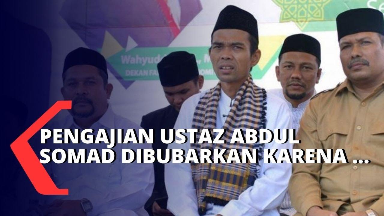 Kerumunan di Pengajian Ustaz Abdul Somad Dibubarkan - YouTube