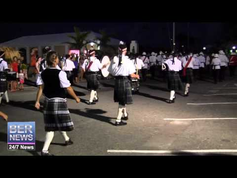 Bermuda Regiment Band & Islands Pipe Band, July 12 2014