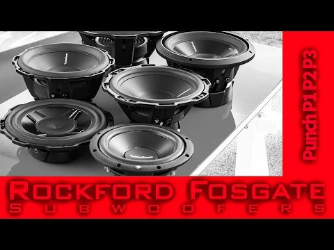 Rockford Fosgate Subwoofers - Prime + Punch