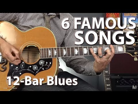 6 Famous Songs Built on the 12Bar Blues Progression  Guitar Lesson