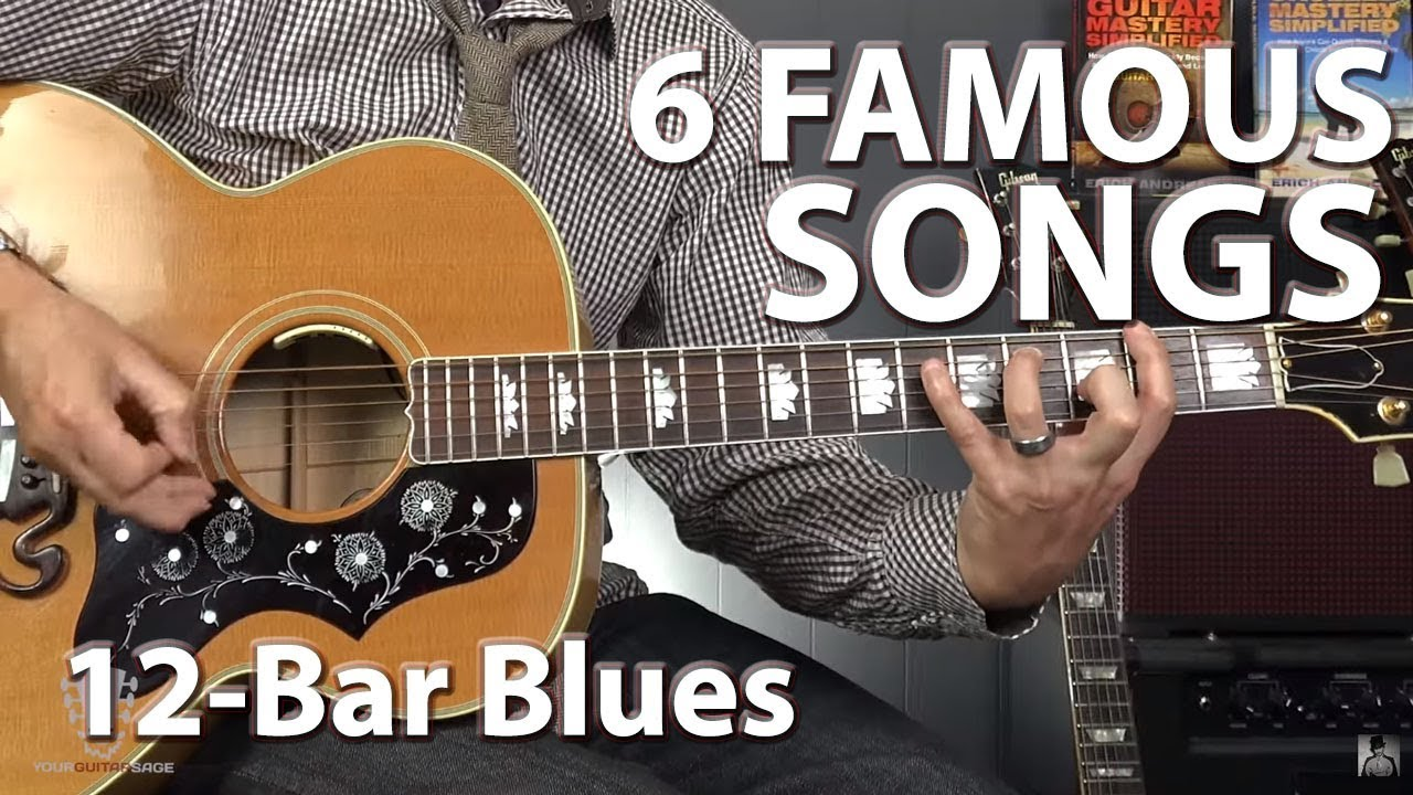 6 famous songs built on the 12 bar blues progression guitar lesson youtube. Black Bedroom Furniture Sets. Home Design Ideas