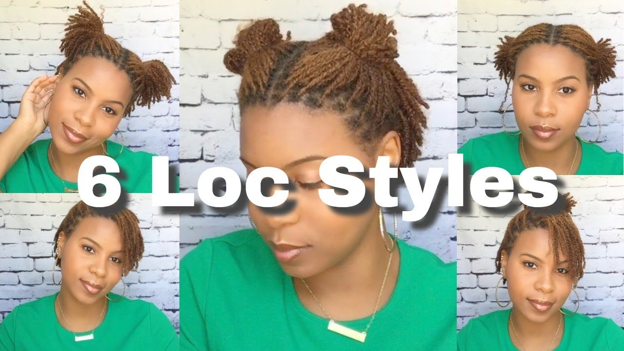 6 *quick & easy* ways to style your short starter locs