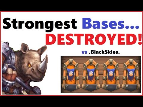 How To DESTROY Strongest Bases Vs BlackSkies Best Players Castle Clash