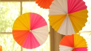 How To Make Hanging Paper Fan Medallions || Kin Diy