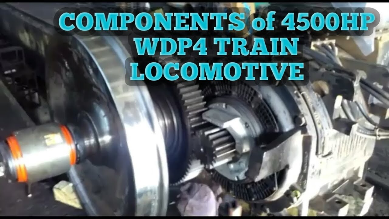 Components in Wdp4 HHP Diesel engine train locomotive - YouTube