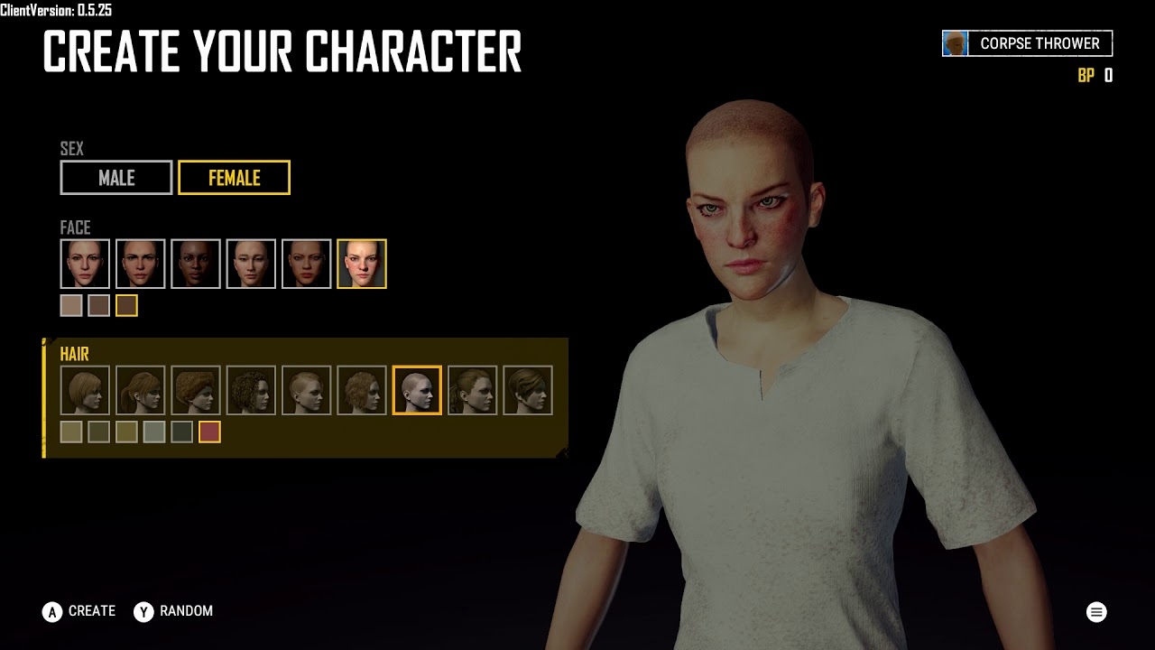 Pubg Create: Create Your Character: Female: Nine Hair & Six