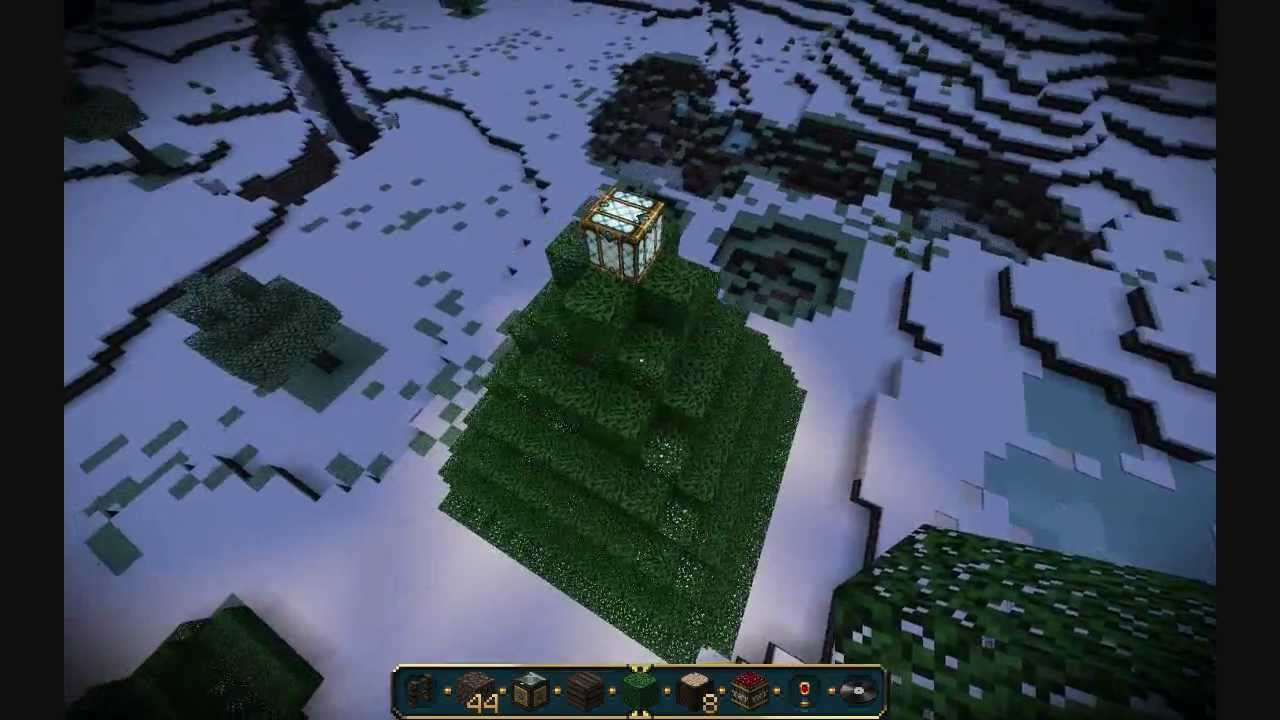 How to Make a Christmas Tree in Minecraft - YouTube