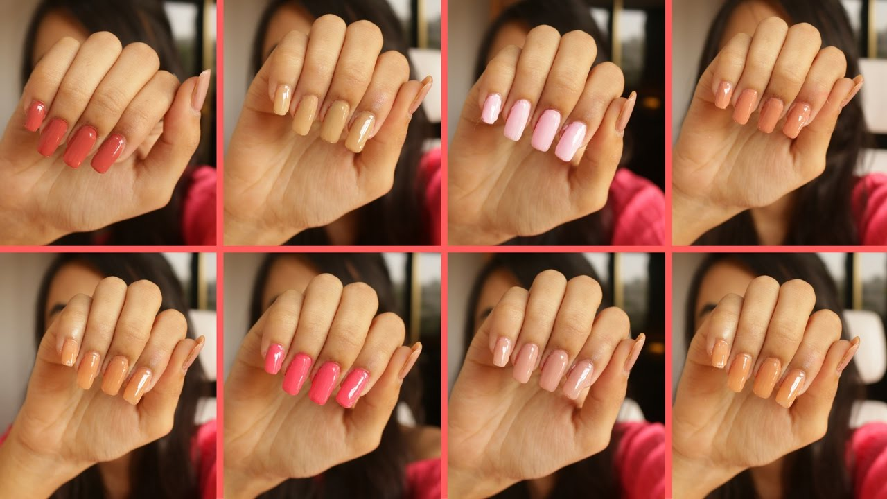 Beauty Look Book | Favorite Nude Pink Nail Polishes | The