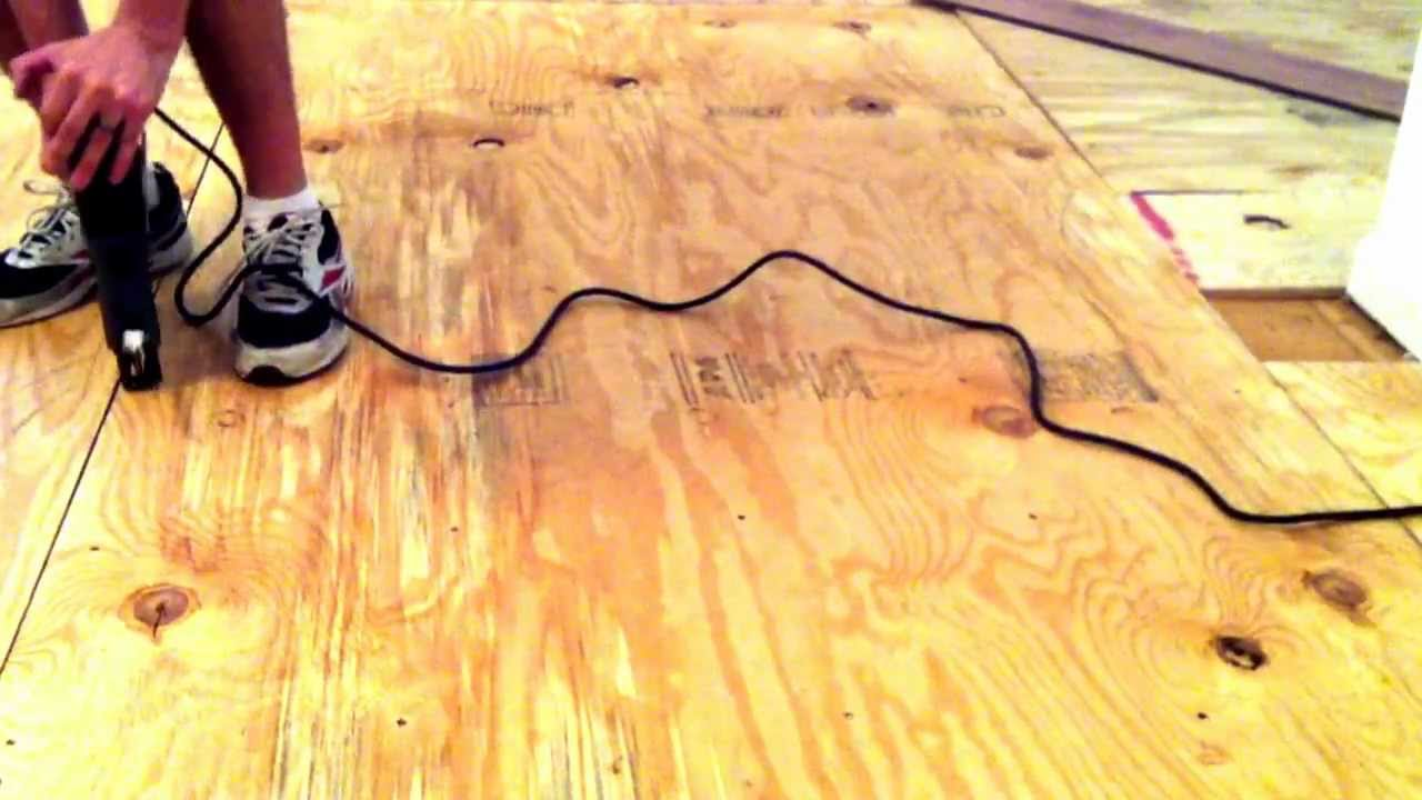 How To Install Plywood On Top Of Your Subfloor Youtube