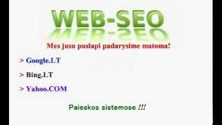seo optimizacija ir reklama internete(, 2012-08-02T03:41:00.000Z)