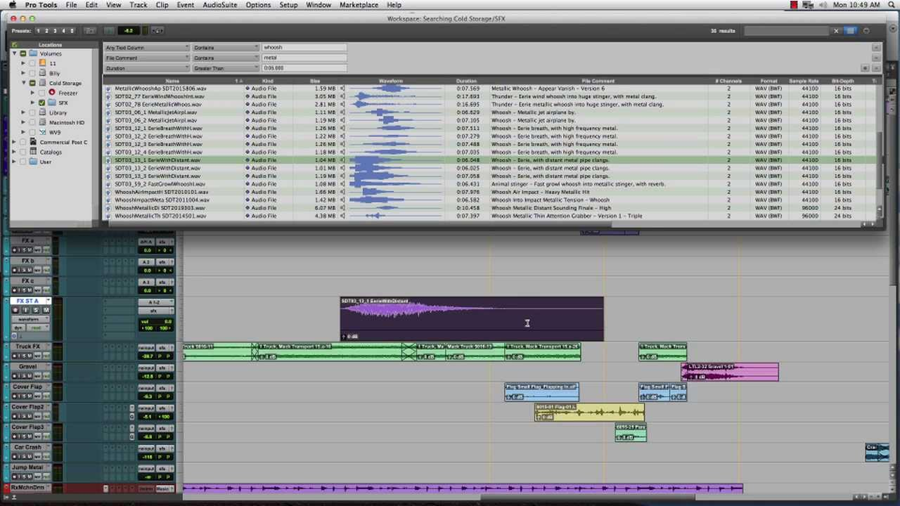 Pro Tools 11 Workspace Browser Avid