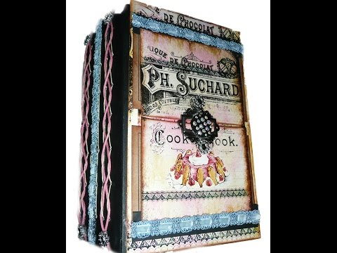 Vintage French Recipe Album/Altered Mixed Media Book (Completed) - SOLD