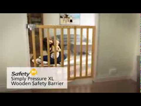 Safety 1st Simply Pressure XL Wooden Safety Barrier   YouTube