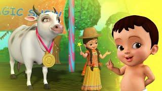 Farm Animal Sounds Song  | Bengali Rhymes for Children | Infobells