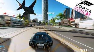 Forza Horizon 3 | Centenario vs. Fighter Jet!! - High Rise Rush Showcase Gameplay [Xbox One]