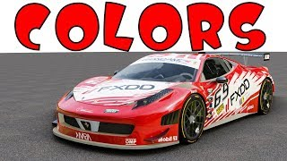 Learn colors with cars and music for kids FERRARI