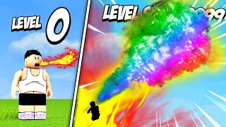 BREATHING MAX LEVEL FIRE in Roblox Fire Simulator!