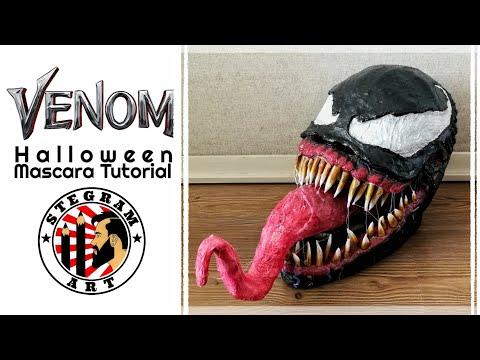 DIY Tutorial máscara de Venom | Halloween | Stevcrea & Makeupxcarol