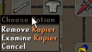 Pretending to Pk with the New Rapier (Fake One)